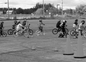 RCMP officers use Bike Rodeo to teach road safety to Providence students