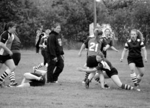 PIC – Girls' rugby action in Grande Prairie