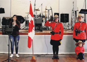 Bad weather didn't dampen anyone's good spirits at McLennan's Canada Day Celebration