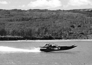 The jet boat set bring speed and fanfare to Peace River for the Gold Cup Championship