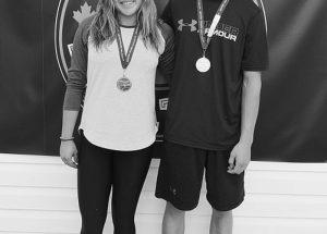 PIC – Sibling medal winners in swimming