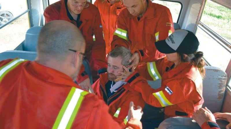 The challenges of extrication in a school bus