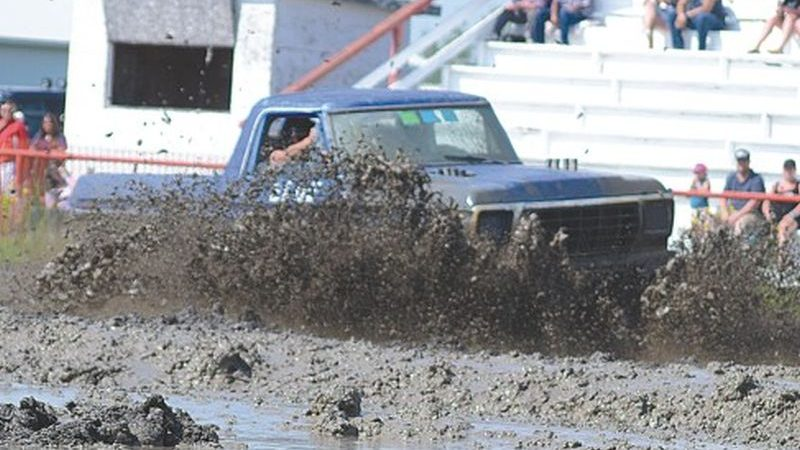 Mud flies at the Smoky River Ag Society grounds on long weekend of Aug. 4-6