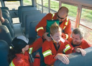 PIC – More photos of firefighter training in school bus