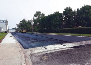 PIC – Repaving work by Ecole Routhier continues