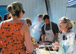 A warm welcome extended to everyone at FCSS community Barbeque