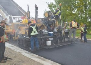 Repaving work continues on west side of Donnelly