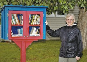 """Donnelly's """"Little Free Library"""" opened its doors August 28"""
