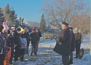 "G.P. Vanier students observe their third annual ""No Stone Left Alone"" commemoration"