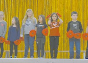 Lest we forget … Ecole Routhier staff & students observe Remembrance Day