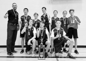 PIC – Ecole Heritage junior boys volleyball team are 1J Zone Champions
