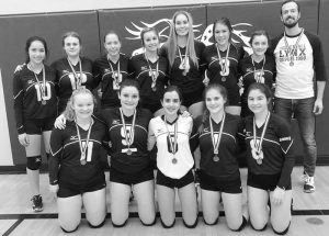 Ecole Heritage senior girls' volleyball team brings home silver medal from zones