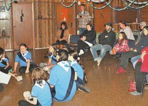 Local Girl Guides participate in landmark enrollment ceremony