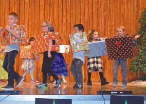 A missing Santa and the 'Reindeer Jive' part of English Christmas concert at Ecole Routhier