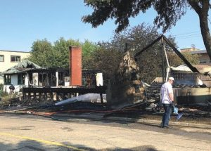 Peace River church burns down