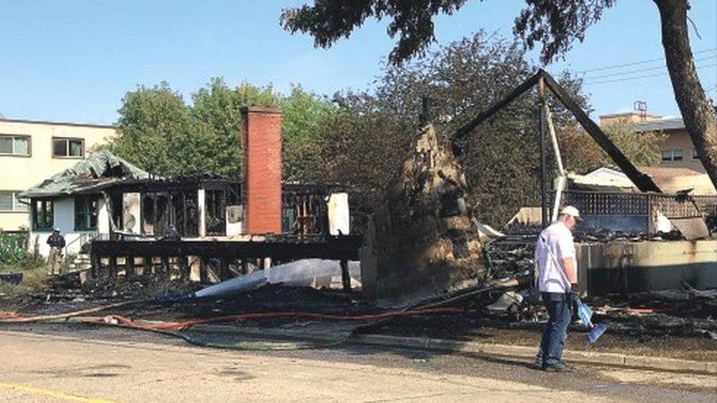 Peace River church burns down