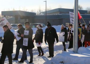 Unions rally in Peace River
