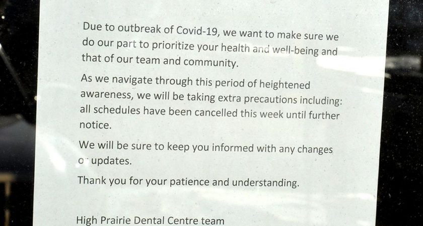 Dental offices close or reduce services