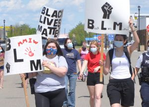 Peaceful protest supports Black Lives