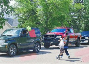 Ecole Providence celebrates end of school year with drive-by parade