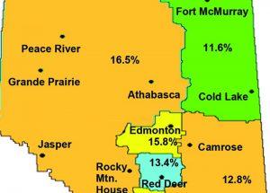 Western Alberta region's unemployment is rising