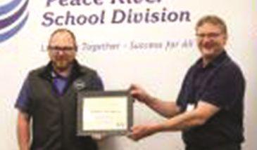 PRSD honours Pierson for earning award
