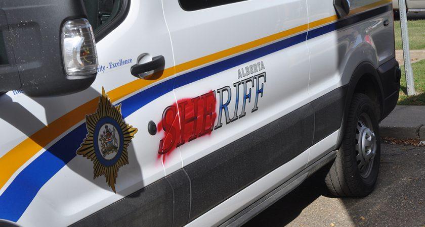 Sheriff's vehicles vandalized
